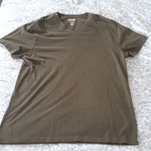 Classic olive green V neck tee